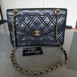 CHANEL Lambskin Shoulder Flap Bag
